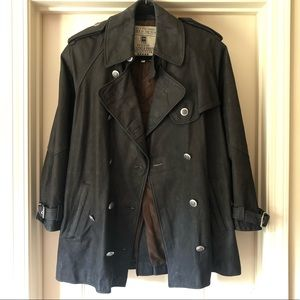 Italian Leather Trench Coat